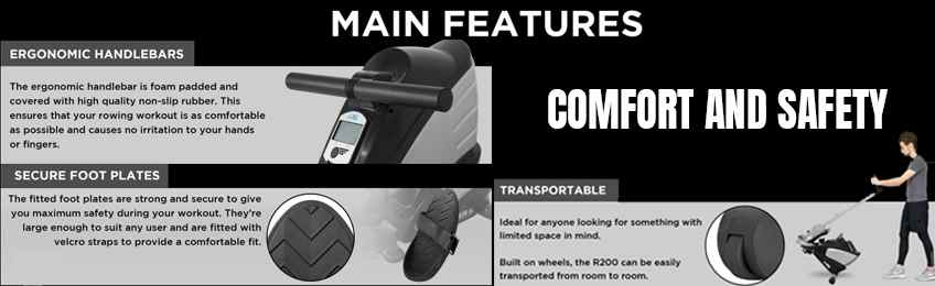 Comfort and Safety -home rowing machine