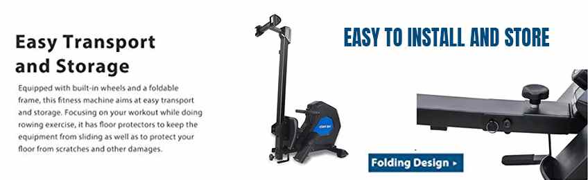 Easy to Install and Store -home rowing machine